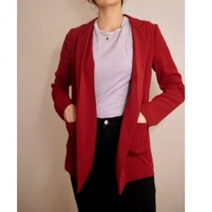 Red Topshop Blazer